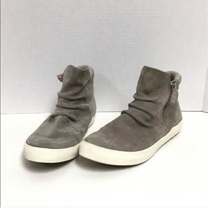 Keds Gray Suede Ankle Boots Slouch Detail